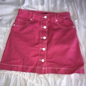 Pink Barbie dall forever 21 skirt